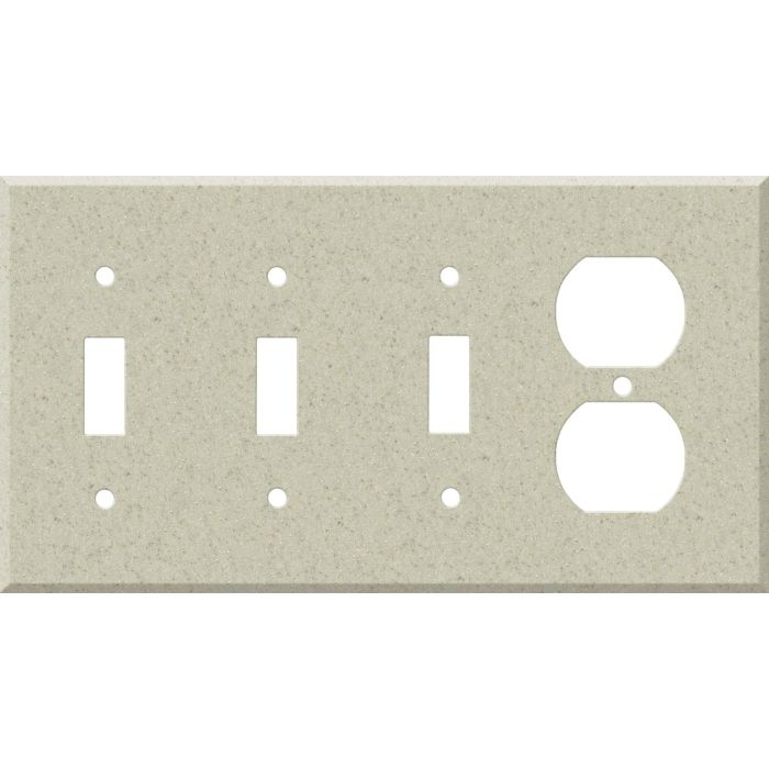 Corian Aurora Combination Triple 3 Toggle / Outlet Wall Plate Covers