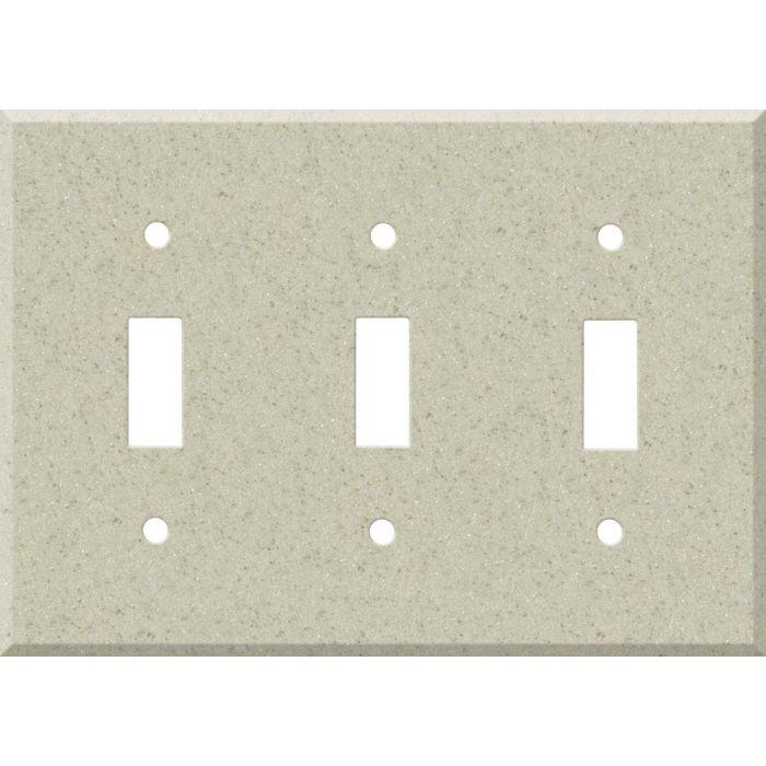 Corian Aurora Triple 3 Toggle Light Switch Covers