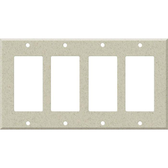 Corian Aurora 4 Rocker GFCI Decorator Switch Plates
