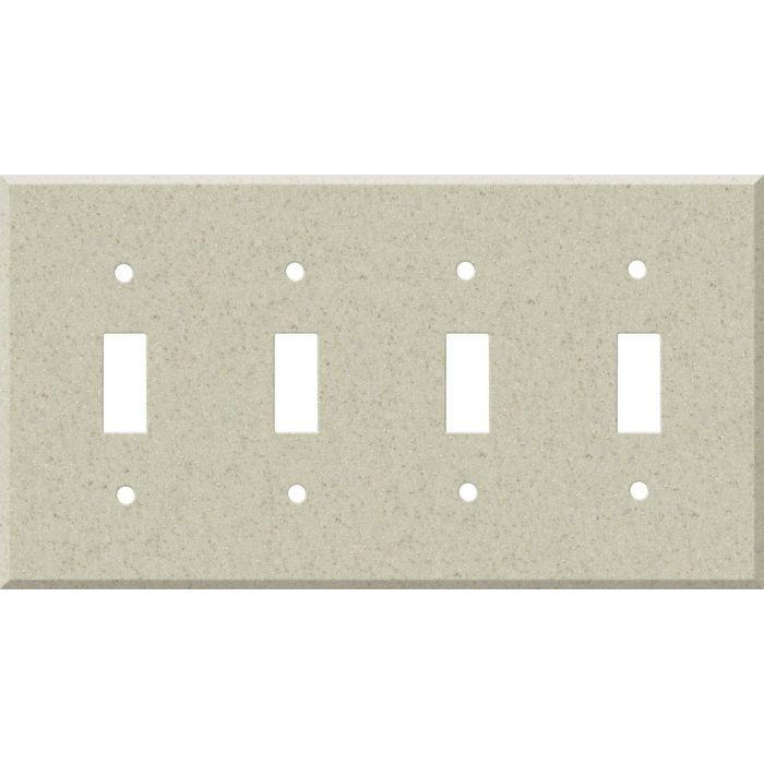 Corian Aurora Quad 4 Toggle Light Switch Covers