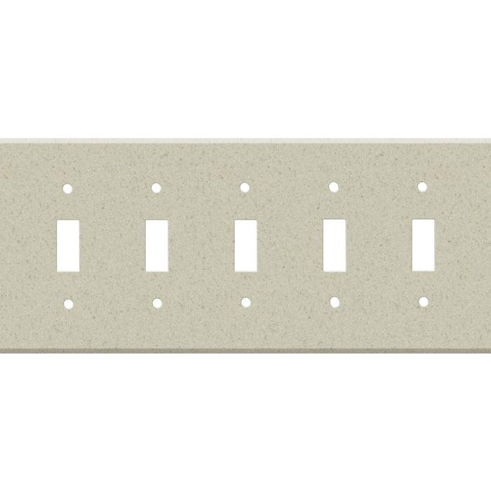 Corian Aurora 5 Toggle Wall Switch Plates