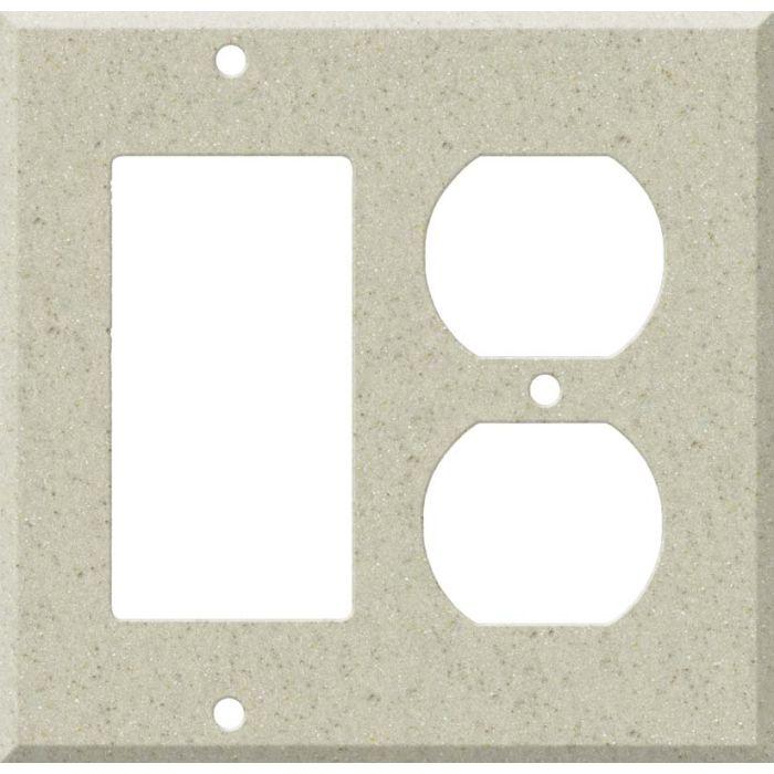 Corian Aurora Combination GFCI Rocker / Duplex Outlet Wall Plates