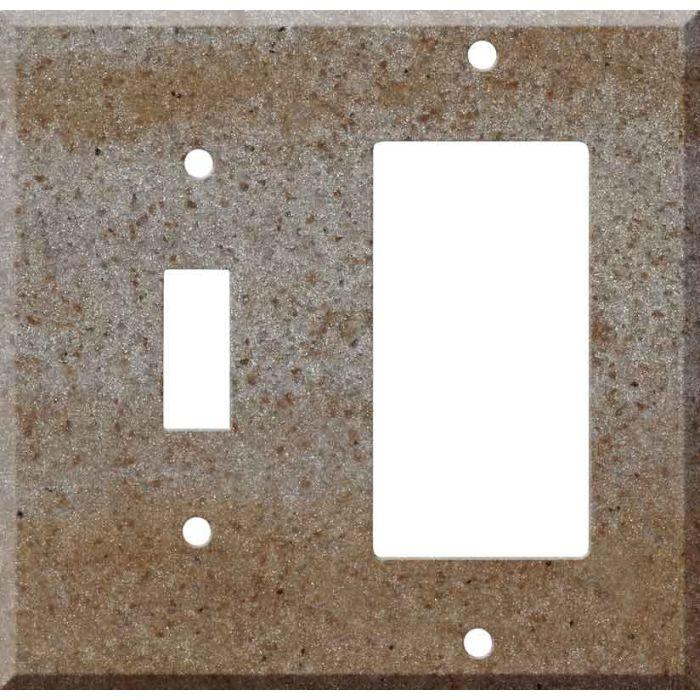 Corian Basil 1 Toggle Wall Switch Plate - GFI Rocker Cover Combo