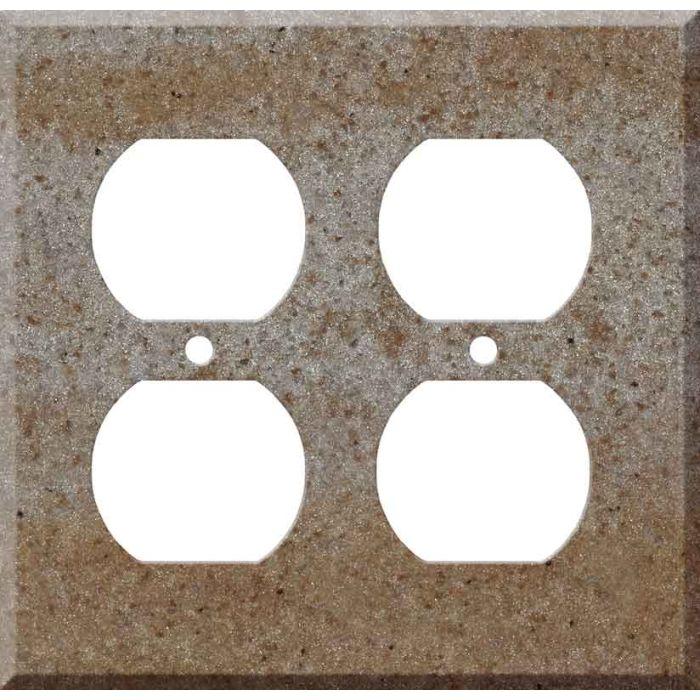 Corian Basil 2 Gang Duplex Outlet Wall Plate Cover