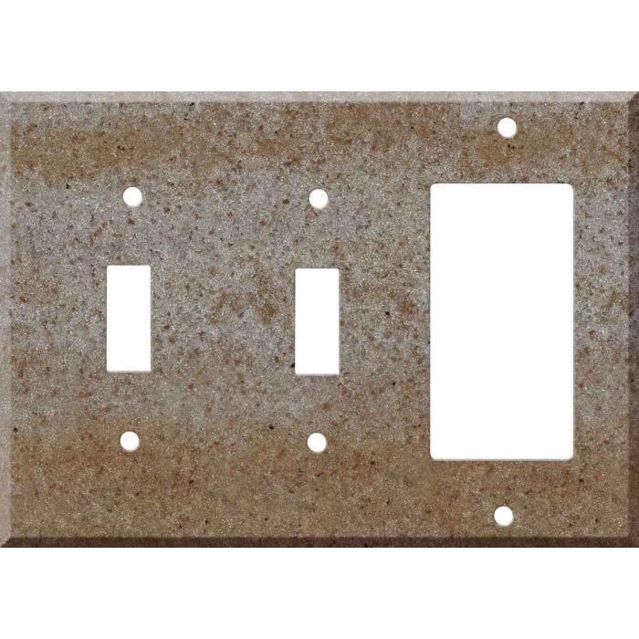 Corian Basil 2-Toggle / 1-GFI Rocker - Combo Switch Covers