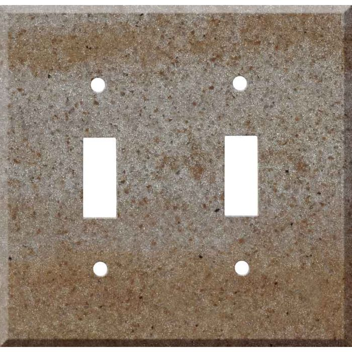 Corian Basil Double 2 Toggle Switch Plate Covers