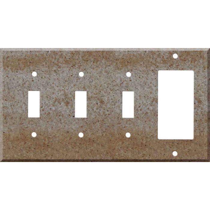 Corian Basil 3-Toggle / 1-Decorator / Rocker - Combination Wall Plates