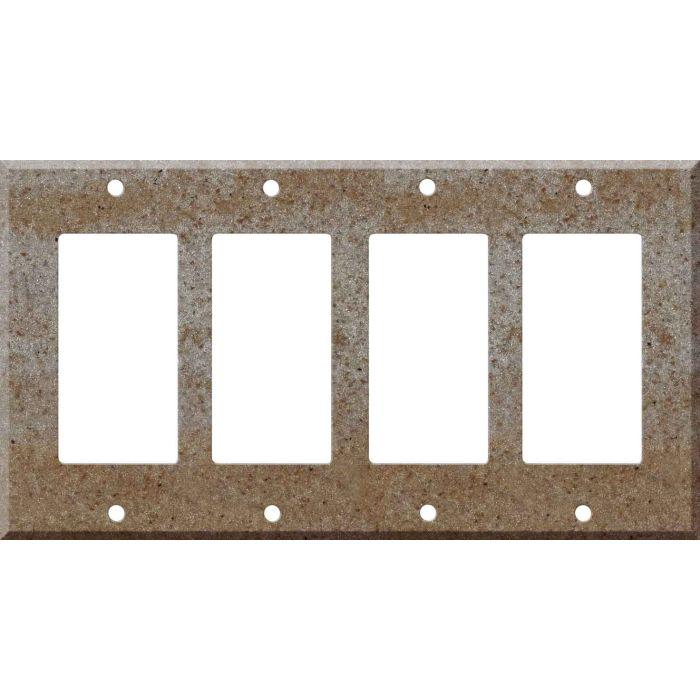 Corian Basil 4 Rocker GFCI Decorator Switch Plates