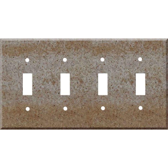Corian Basil Quad 4 Toggle Light Switch Covers