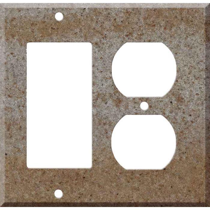 Corian Basil Decora GFCI Rocker / Duplex Outlet Combination Wall Plate
