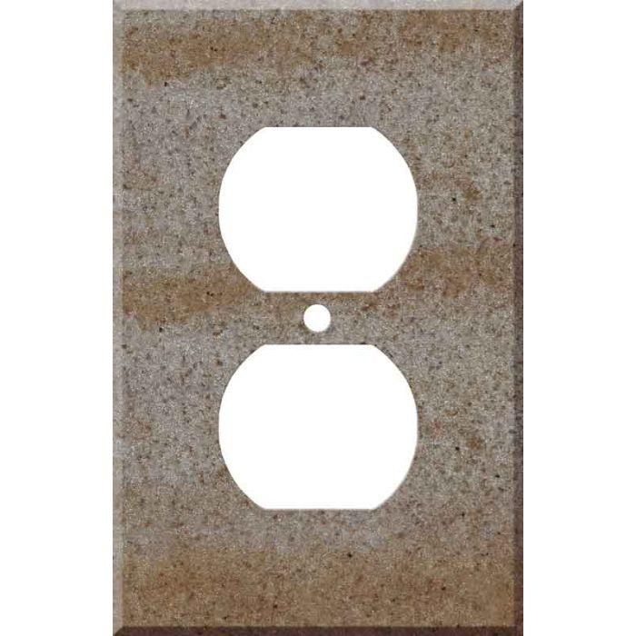 Corian Basil 1 - Gang Duplex Outlet Cover Wall Plate