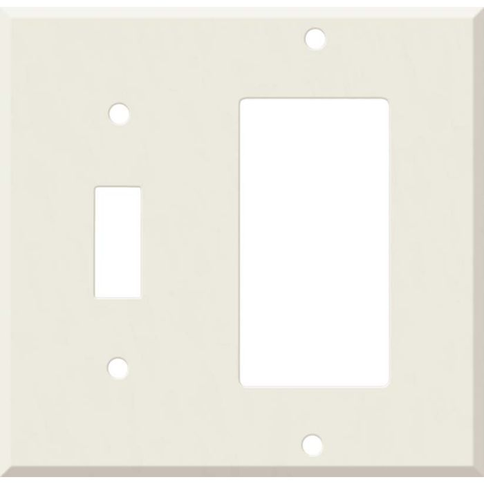 Corian Bisque Combination 1 Toggle / Rocker GFCI Switch Covers