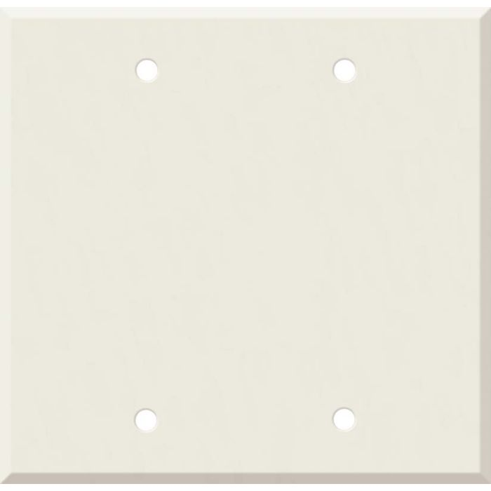 Corian Bisque Double Blank Wallplate Covers
