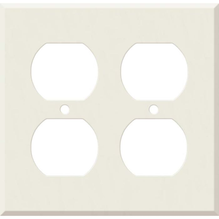 Corian Bisque 2 Gang Duplex Outlet Wall Plate Cover