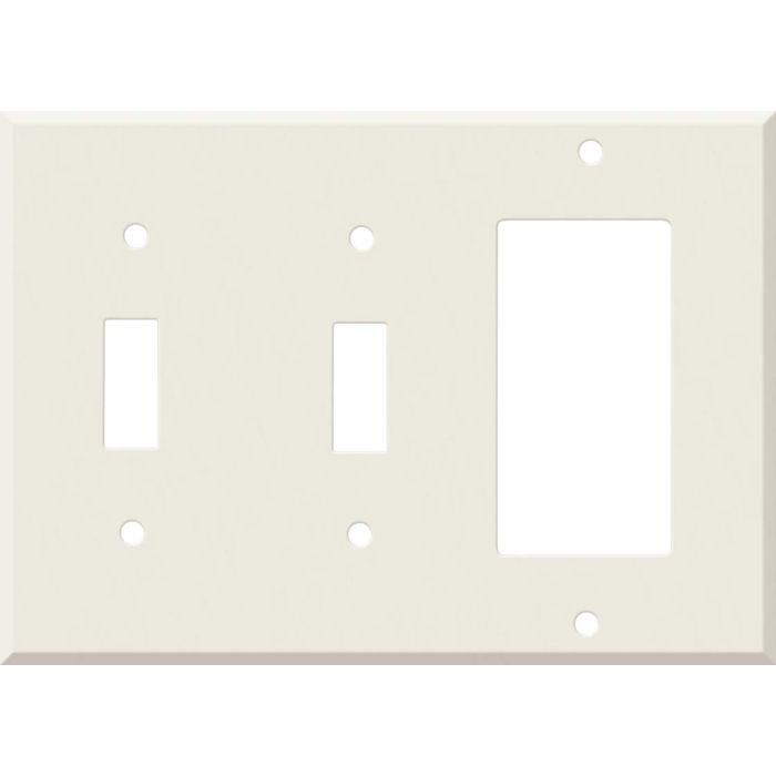 Corian Bisque Double 2 Toggle / 1 GFCI Rocker Combo Switchplates