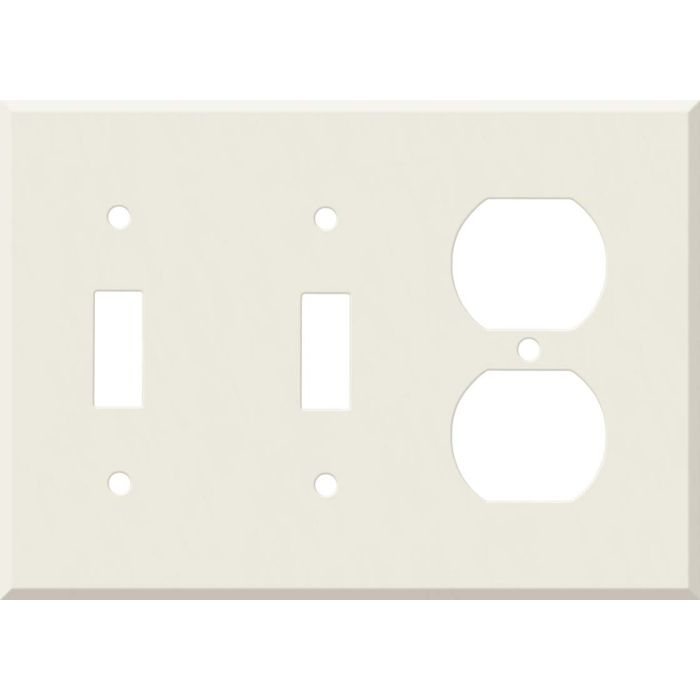 Corian Bisque Double 2 Toggle / Outlet Combination Wall Plates