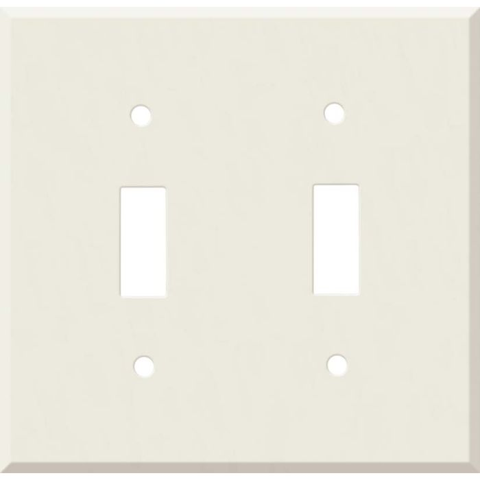 Corian Bisque Double 2 Toggle Switch Plate Covers