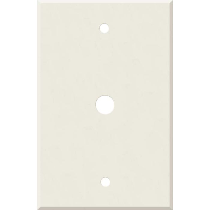Corian Bisque Coax Cable TV Wall Plates