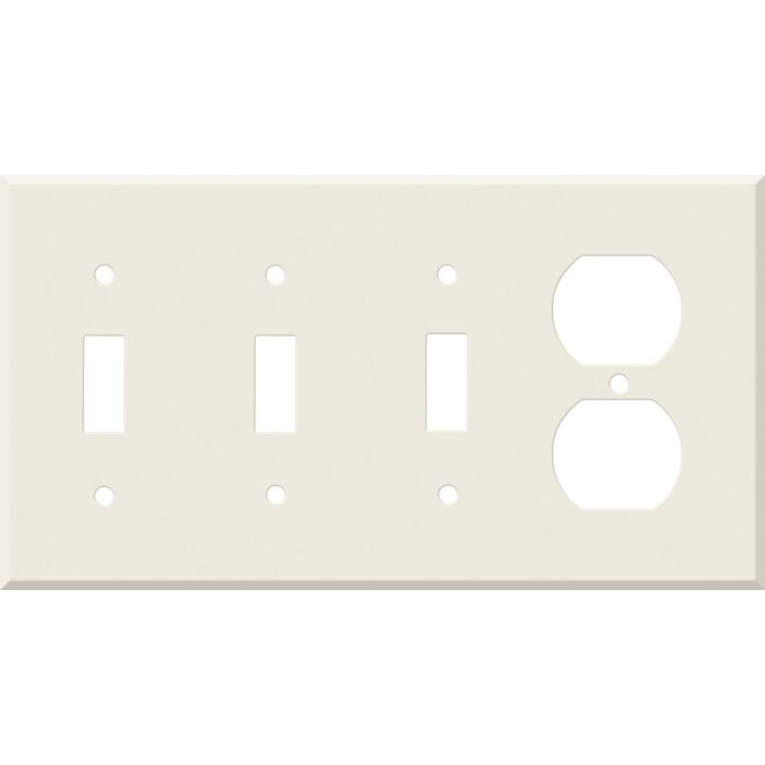 Corian Bisque Combination Triple 3 Toggle / Outlet Wall Plate Covers