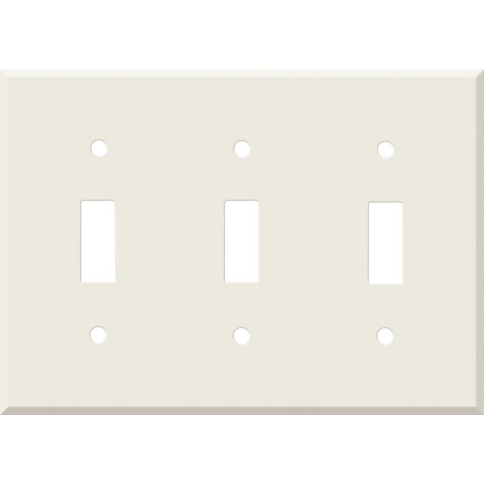 Corian Bisque Triple 3 Toggle Light Switch Covers
