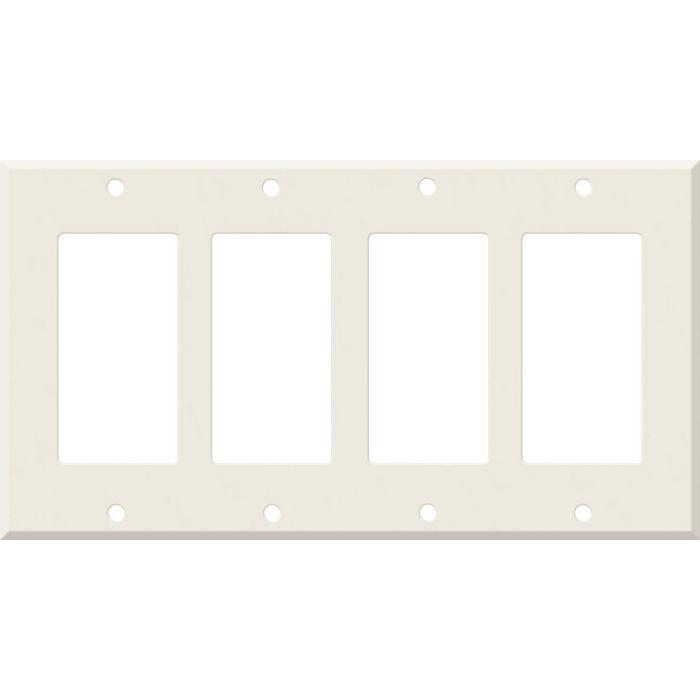 Corian Bisque 4 Rocker GFCI Decorator Switch Plates