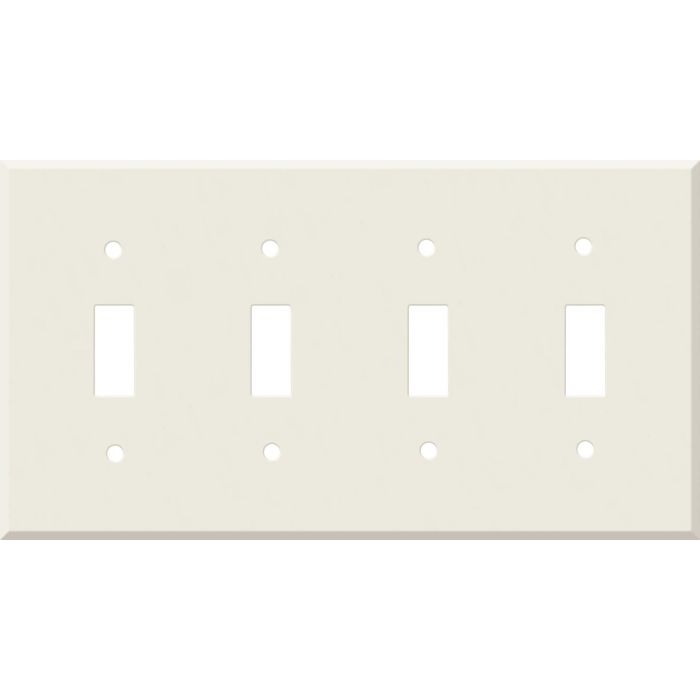 Corian Bisque Quad 4 Toggle Light Switch Covers