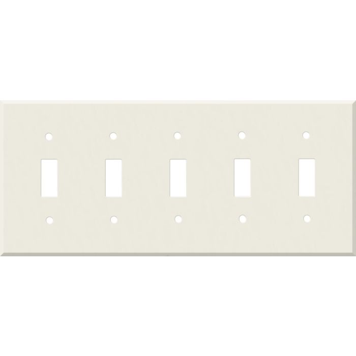 Corian Bisque 5 Toggle Wall Switch Plates