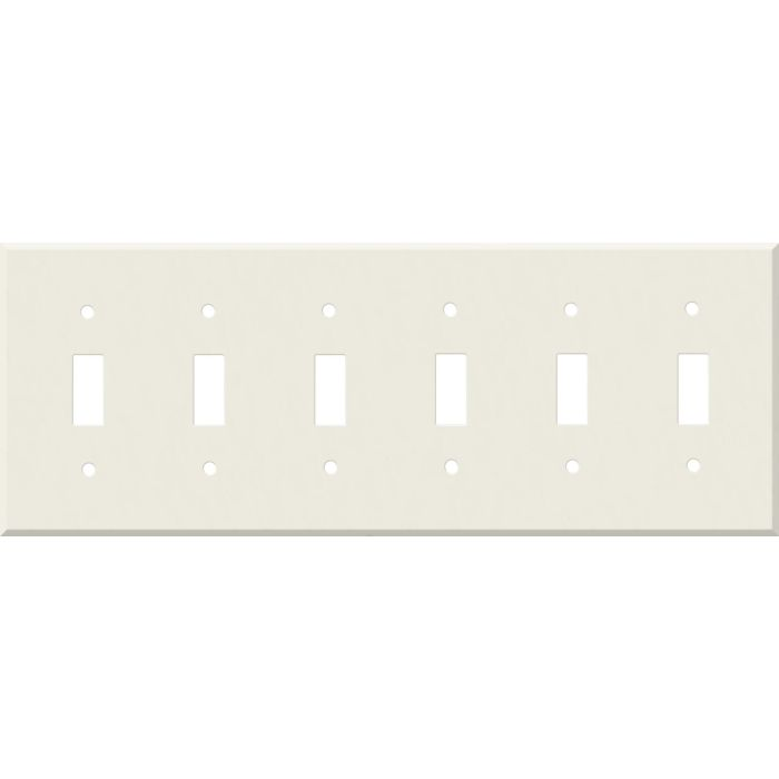 Corian Bisque 6 Toggle Wall Plate Covers