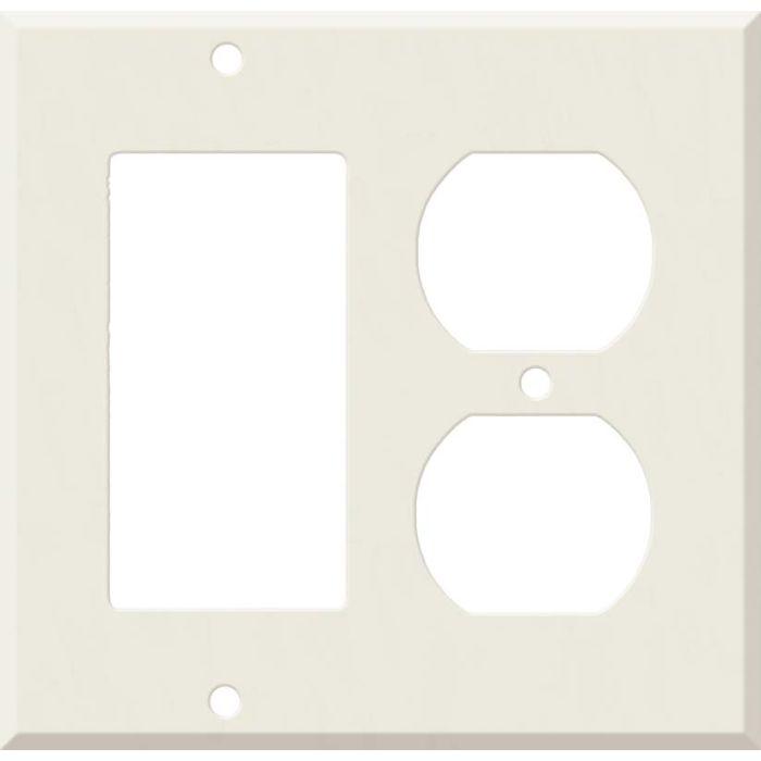 Corian Bisque Combination GFCI Rocker / Duplex Outlet Wall Plates