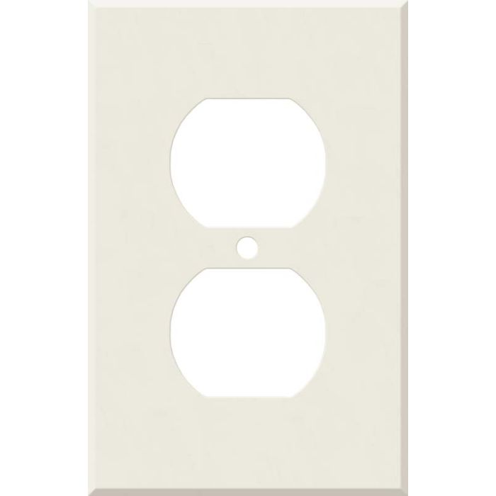 Corian Bisque 1 Gang Duplex Outlet Cover Wall Plate