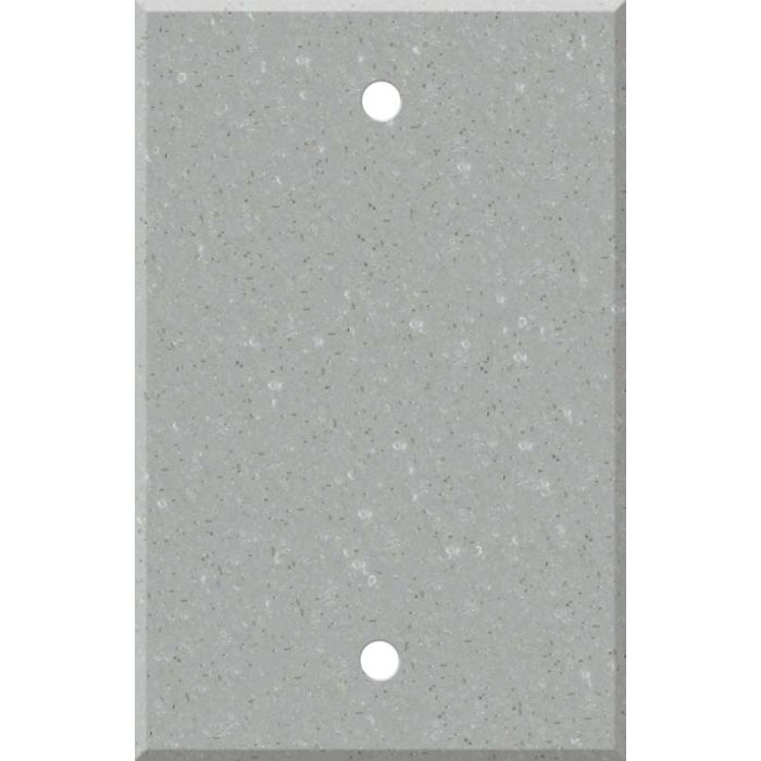 Corian Blue Pebble Blank Wall Plate Cover