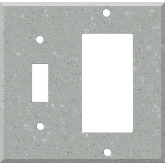 Corian Blue Pebble Combination 1 Toggle / Rocker GFCI Switch Covers