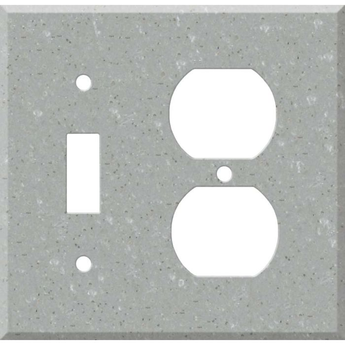 Corian Blue Pebble Combination 1 Toggle / Outlet Cover Plates