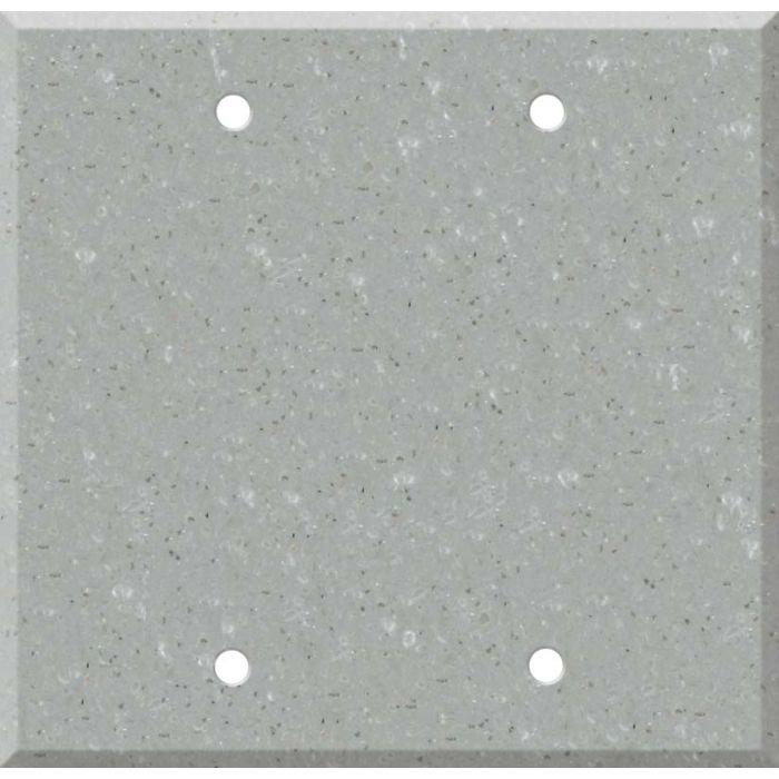 Corian Blue Pebble Double Blank Wallplate Covers