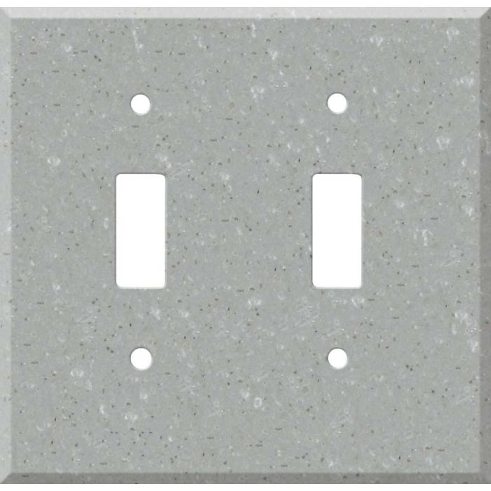 Corian Blue Pebble Double 2 Toggle Switch Plate Covers