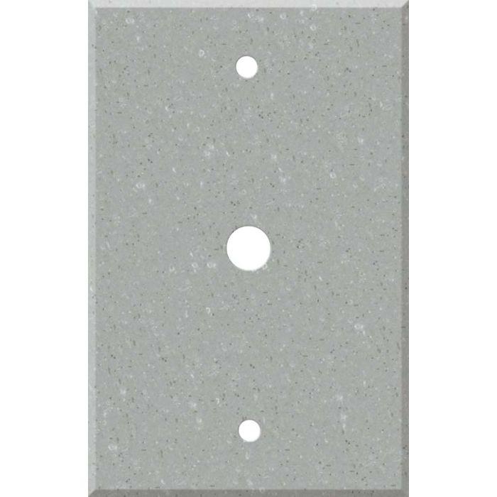 Corian Blue Pebble Coax Cable TV Wall Plates