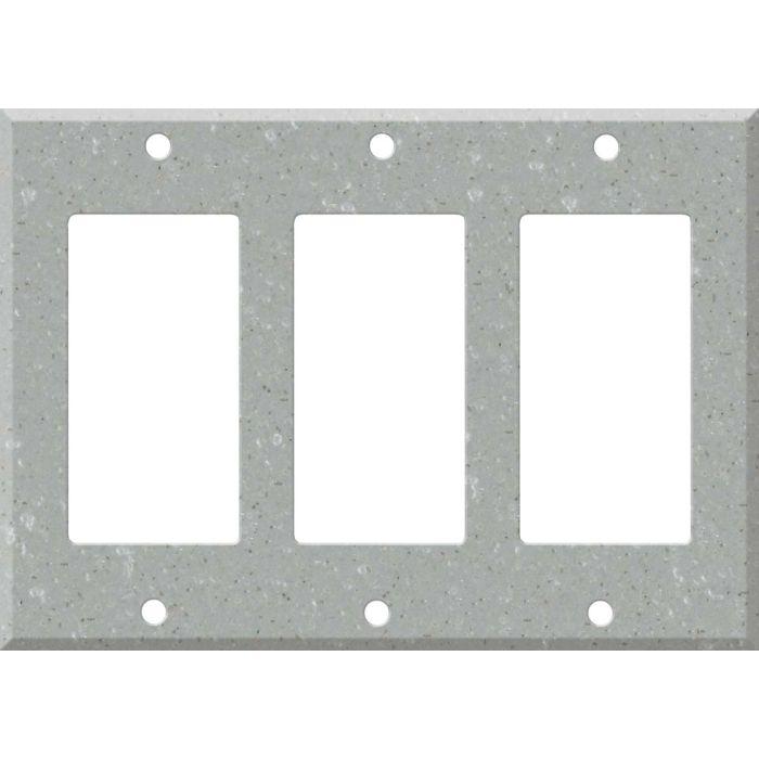Corian Blue Pebble Triple 3 Rocker GFCI Decora Light Switch Covers