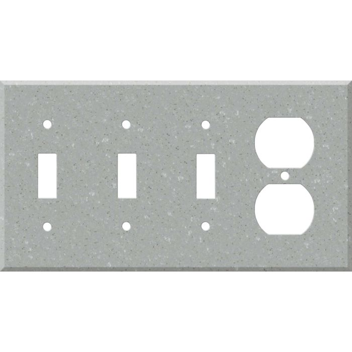 Corian Blue Pebble Combination Triple 3 Toggle / Outlet Wall Plate Covers