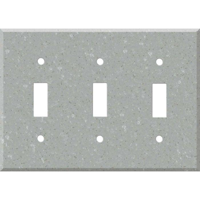 Corian Blue Pebble Triple 3 Toggle Light Switch Covers