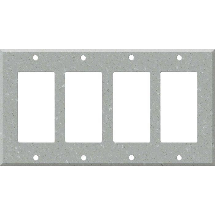 Corian Blue Pebble 4 Rocker GFCI Decorator Switch Plates