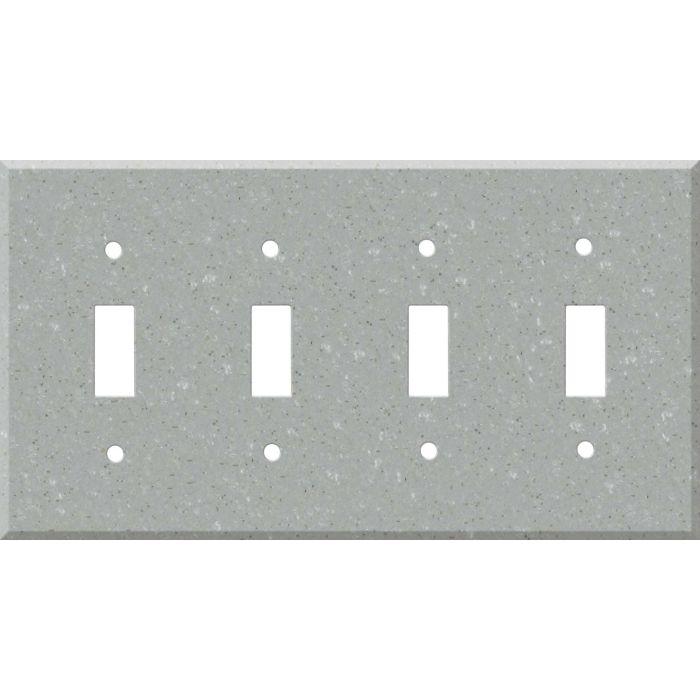 Corian Blue Pebble Quad 4 Toggle Light Switch Covers
