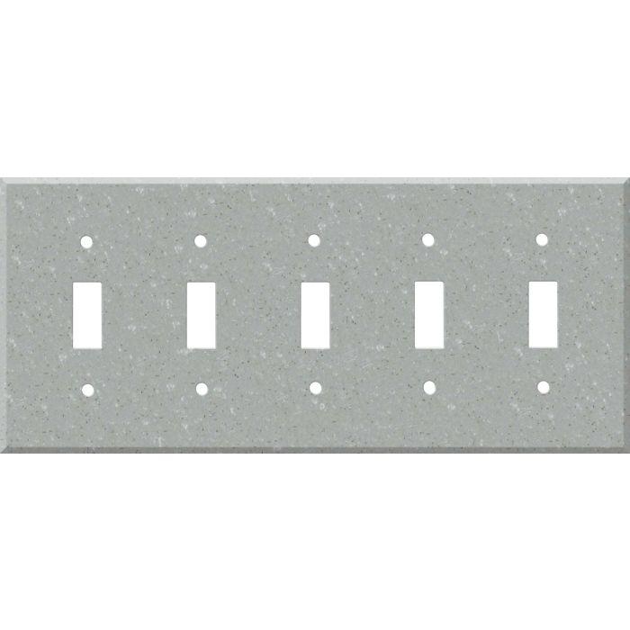 Corian Blue Pebble 5 Toggle Wall Switch Plates