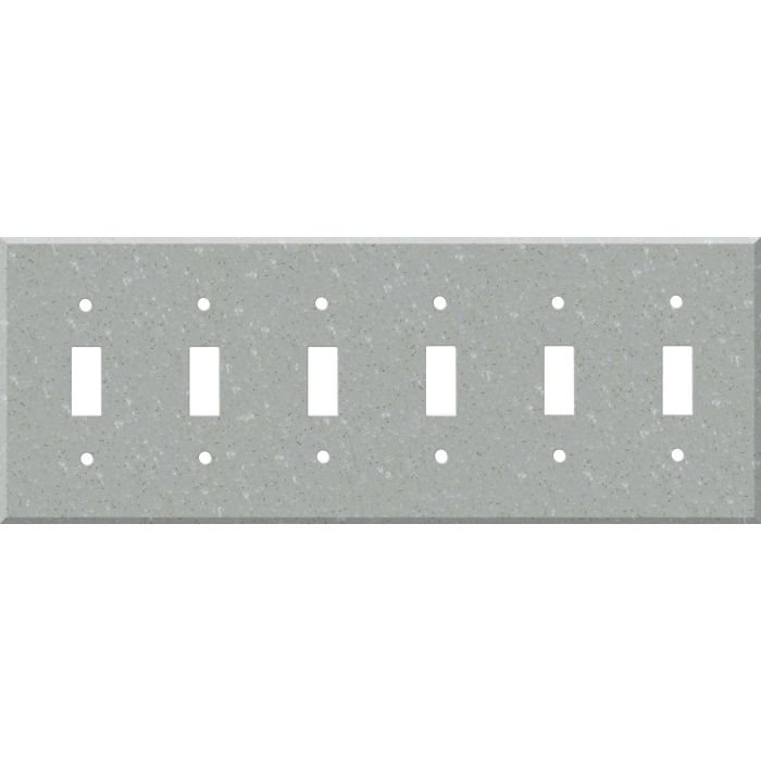 Corian Blue Pebble 6 Toggle Wall Plate Covers