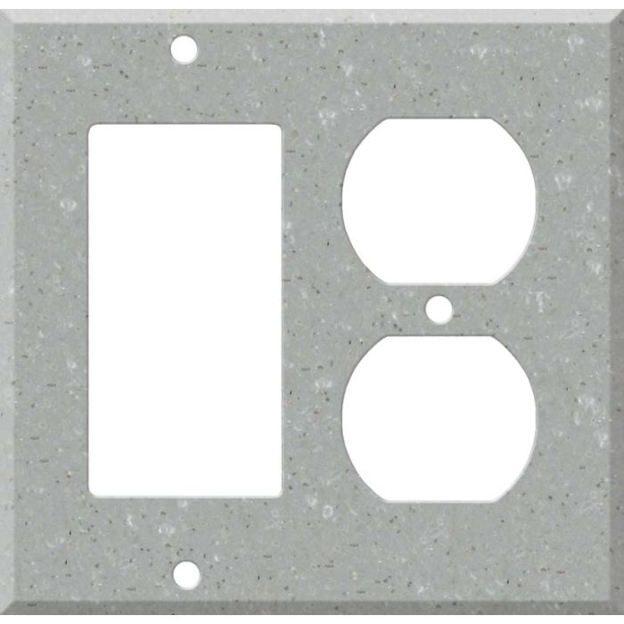Corian Blue Pebble Combination GFCI Rocker / Duplex Outlet Wall Plates