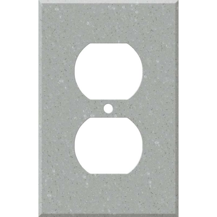 Corian Blue Pebble 1 Gang Duplex Outlet Cover Wall Plate