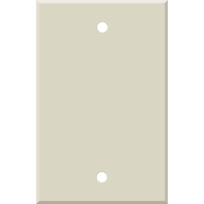 Corian Bone Blank Wall Plate Cover