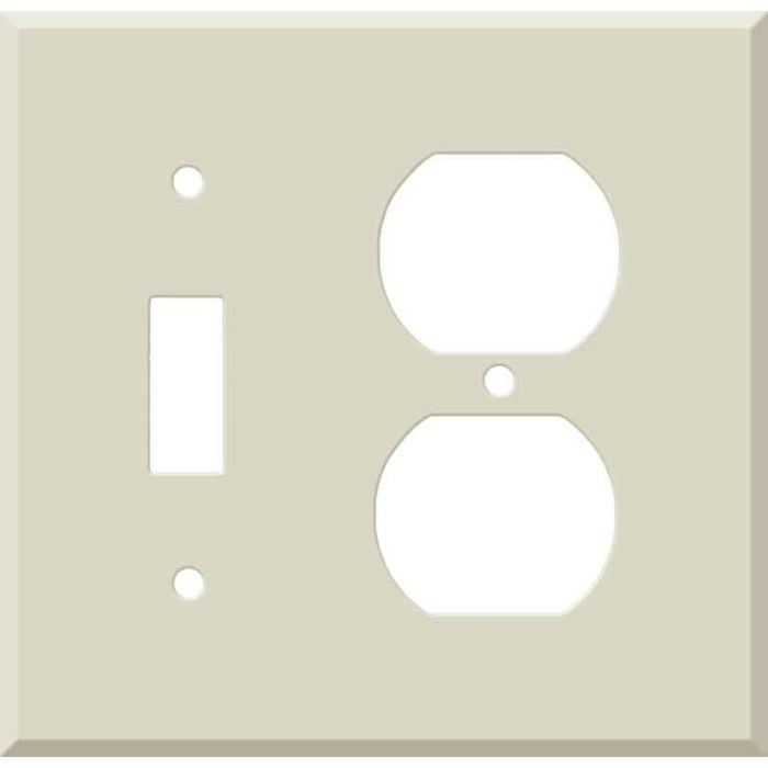 Corian Bone 1 Toggle Wall Switch Plate - Outlet Cover Combination