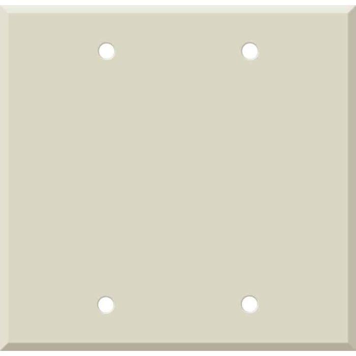 Corian Bone Double Blank Wallplate Covers
