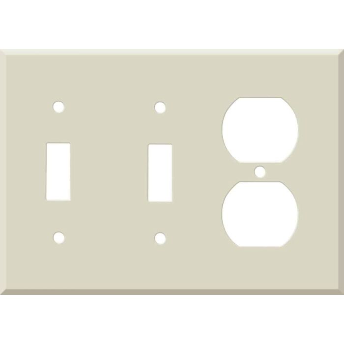 Corian Bone 2-Toggle / 1-Duplex Outlet - Combination Wall Plates