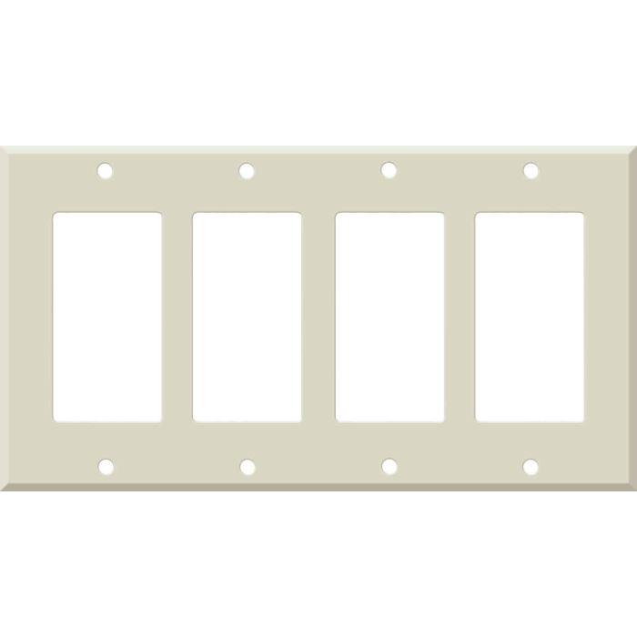 Corian Bone 4 Rocker GFCI Decorator Switch Plates